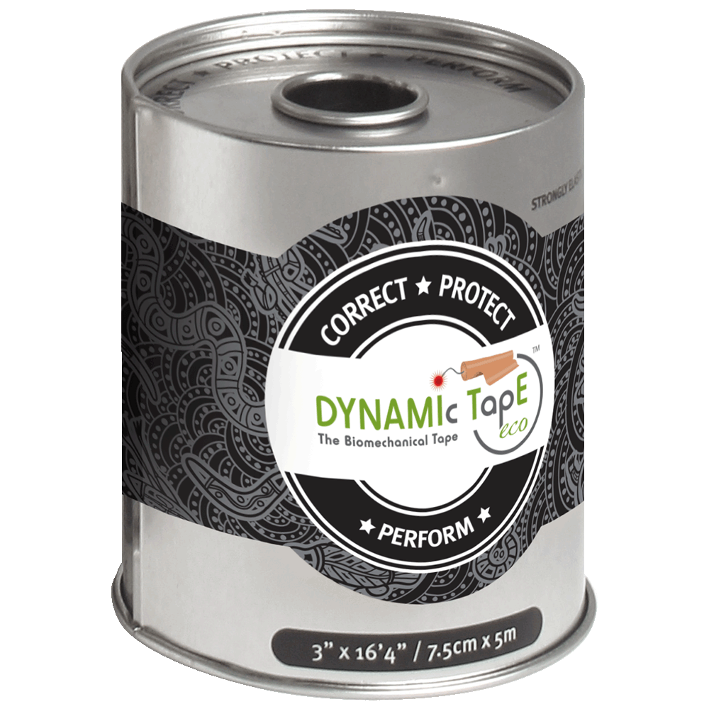 Dynamic Tape 7.5cm x 5m eco black grey tattoo NEW