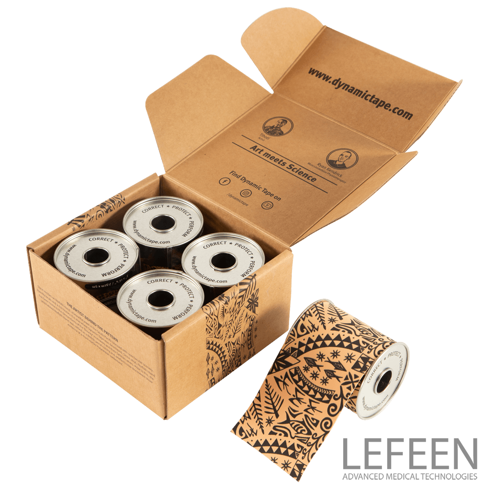 4 Pack Dynamic Tape Beige Black Tattoo 7,5 X 5