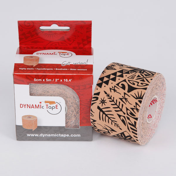 Dynamic Tape Tato 5cm x 5m Beige - Black tattoo