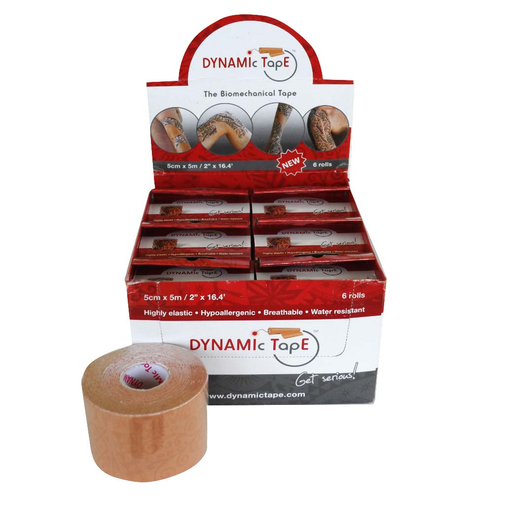 Dynamic Tape 5cm x 5m Beige - Beige tattoo 6ks
