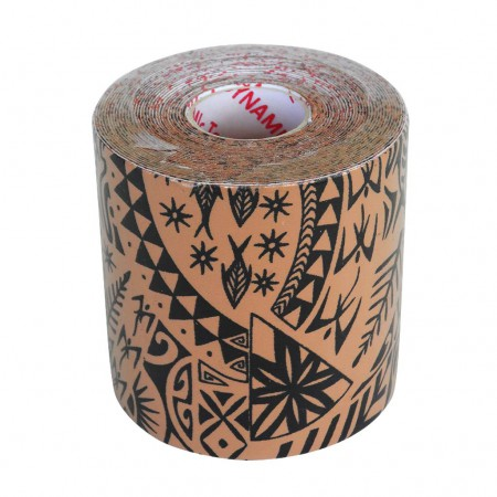 Dynamic Tape 7.5cm x 5m Beige - black tattoo