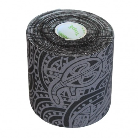 Dynamic Tape 5cm x 5m black - grey tattoo ECO