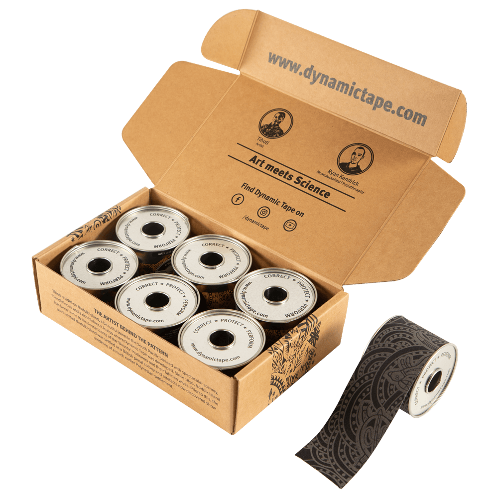 6 Pack DynamicTape ECO Gray Tattoo 5 x 5